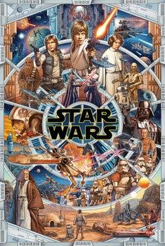 Ise Anaphada - Star Wars: An Epic Saga - Contemporary Cinema Movie Film Posters