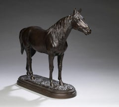 Horse Portrait of a Standing Stallion Isidore Jules Bonheur (France, 1827-1901)