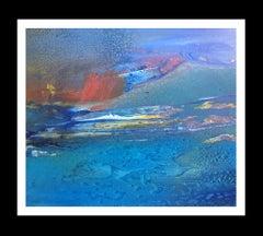 blue sea   original abstract acrylic canvas painting