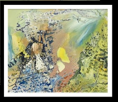 composition of colors   original abstract acrylic canvas painting