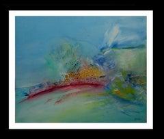 Decostruccion blue original abstract acrylic canvas painting