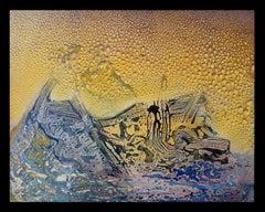 El mar- original abstract acrylic canvas painting