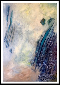 foggy landscape. original abstract acrylic canvas painting