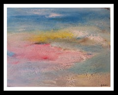 landscape original abstract acrylic paper painting