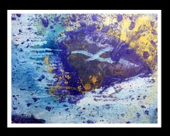 Passol blue    original abstract acrylic canvas painting