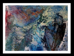 sea-  original abstract paper acrylic painting