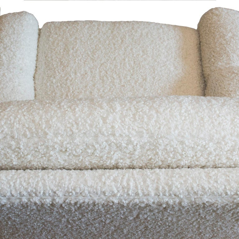 Hand-Crafted ISKU Pair of Club Chairs Made in Finland in Faux Shearling For Sale