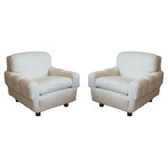 ISKU Pair of Club Chairs Made in Finland in Faux Shearling