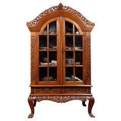 Islamic Indonesian Djati Wood Display Cabinet, circa 1917