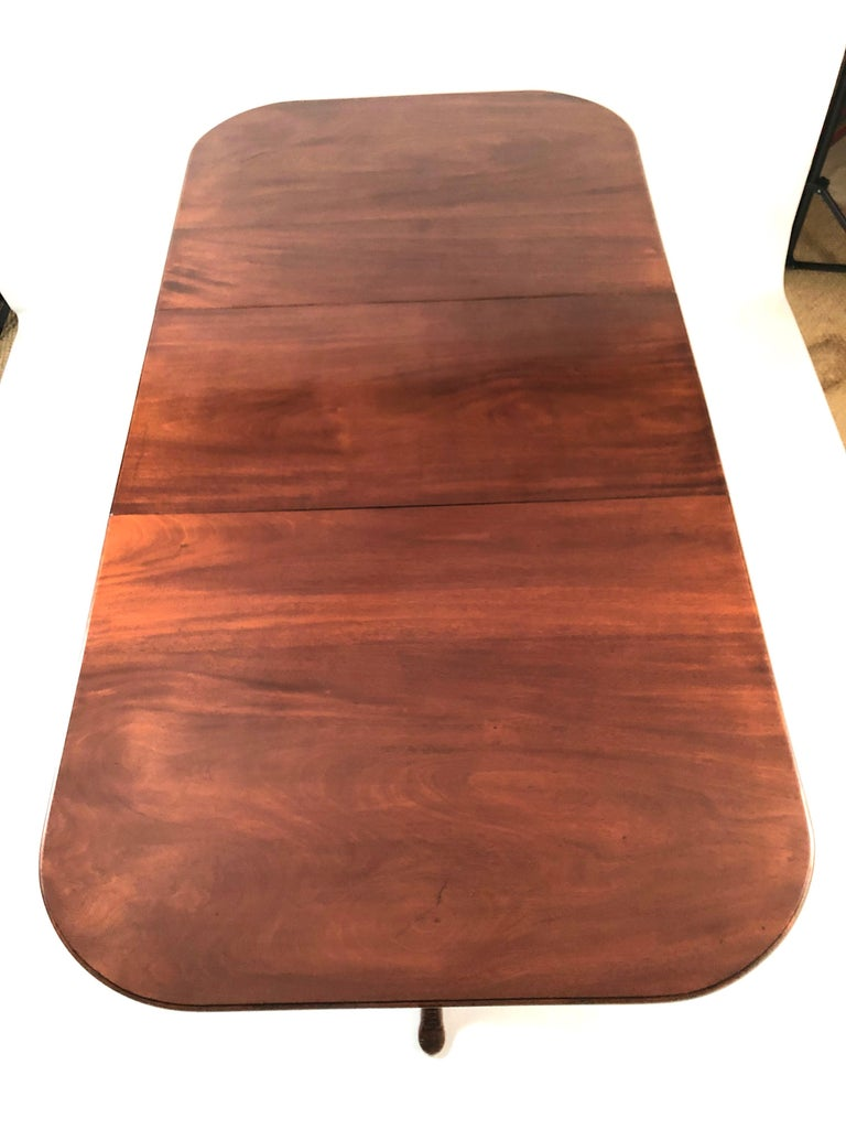Isle of Man Mahogany Dining Table with Brogue Shoe Feet, circa 1880 For Sale 3