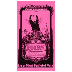 Isle of Wight Festival Original Vintage Poster, British, 1969