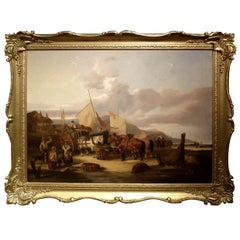 Isle of Wright Seaweed Gatherers Painting by William Shayer Sn.