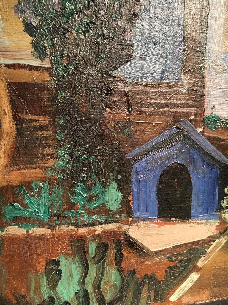Mid-20th Century Ismael de la Serna ''Villa'' Signed and Dated 1952 For Sale