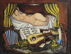 Jeune Fille à l'Accordéon by ISMAEL DE LA SERNA - Spanish artist, cubist art