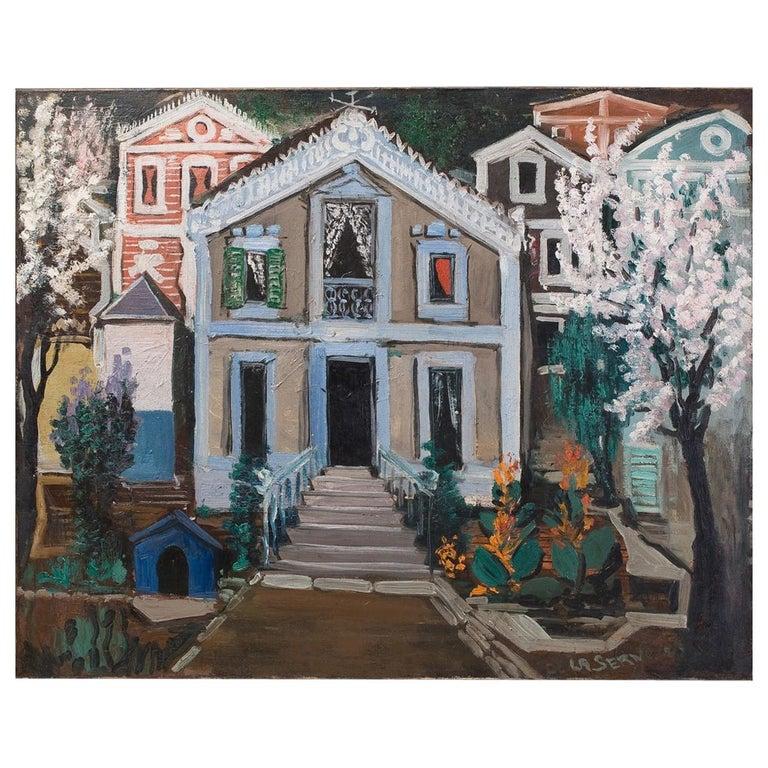Ismael de la Serna ''Villa'' Signed and Dated 1952 For Sale