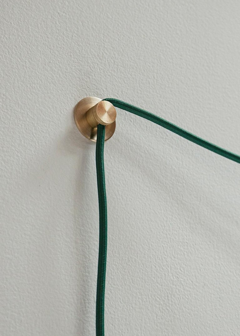 Iso Sconce Light in Brass Finish and Color Wash Globe, Large, 1st Dibs New York In New Condition For Sale In Brooklyn, NY