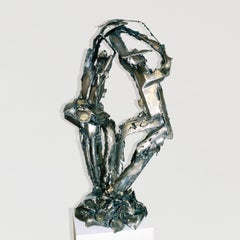 """Duet"", Abstract, Figurative, Welded Steel Metal Sculpture"