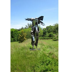 """Man"", Large Abstract Welded Steel Sculpture, Figurative, Metal, Outdoor"