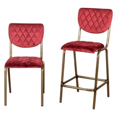 Isobella Contemporary Velvet Dining Chair, 20th Century