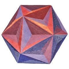 Isocaedro Carpet, Limit Ed, Handknot, 200kn, Wool+Bamboo Silk, Lanzavecchia+Wai