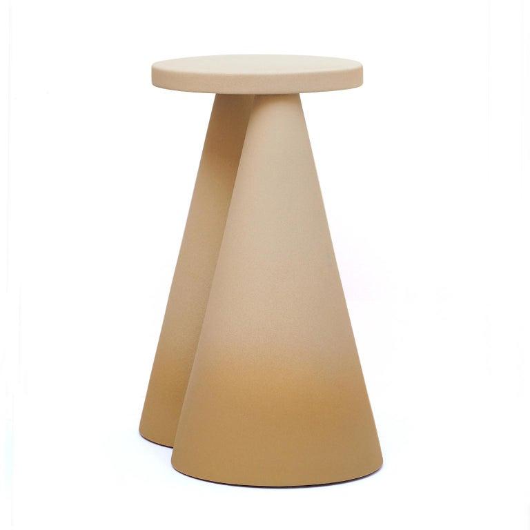 Modern Isola/ Ceramic Conic Side Table/ Honey, Designed by Cara/Davide for Portego For Sale