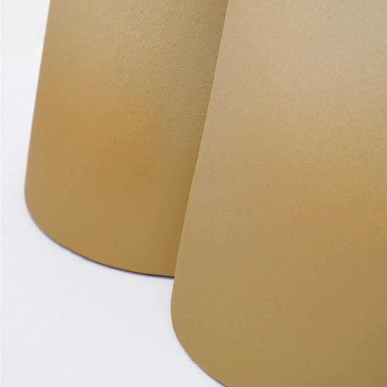 Italian Isola/ Ceramic Conic Side Table/ Honey, Designed by Cara/Davide for Portego For Sale