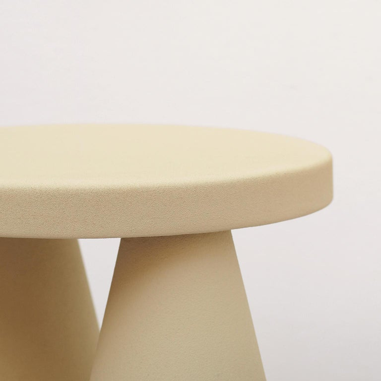 Isola/ Ceramic Conic Side Table/ Honey, Designed by Cara/Davide for Portego In New Condition For Sale In Stienta, IT