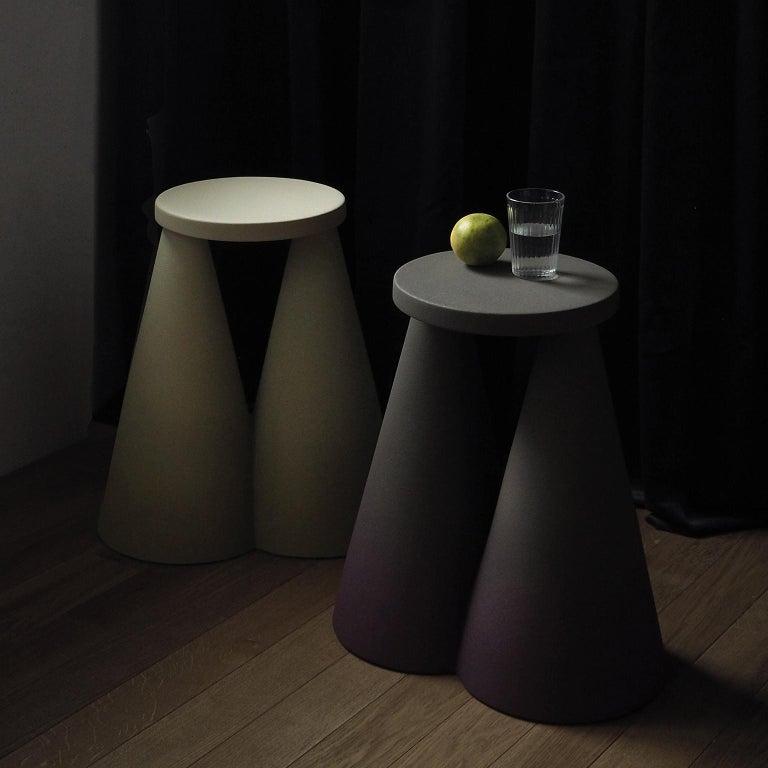 Isola/ Ceramic Conic Side Table/ Honey, Designed by Cara/Davide for Portego For Sale 1