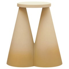 Isola/ Ceramic Conic Side Table/ Honey, Designed by Cara/Davide for Portego