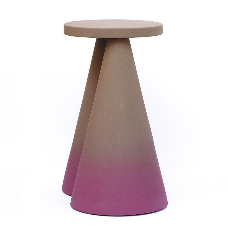 Modern Isola/ Ceramic Conic Side Table/ Purple, Designed by Cara/Davide for Portego For Sale