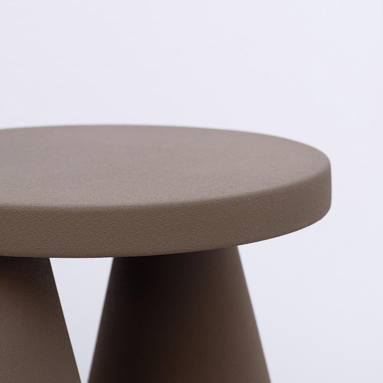 Italian Isola/ Ceramic Conic Side Table/ Purple, Designed by Cara/Davide for Portego For Sale