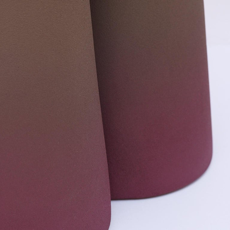 Isola/ Ceramic Conic Side Table/ Purple, Designed by Cara/Davide for Portego In New Condition For Sale In Stienta, IT