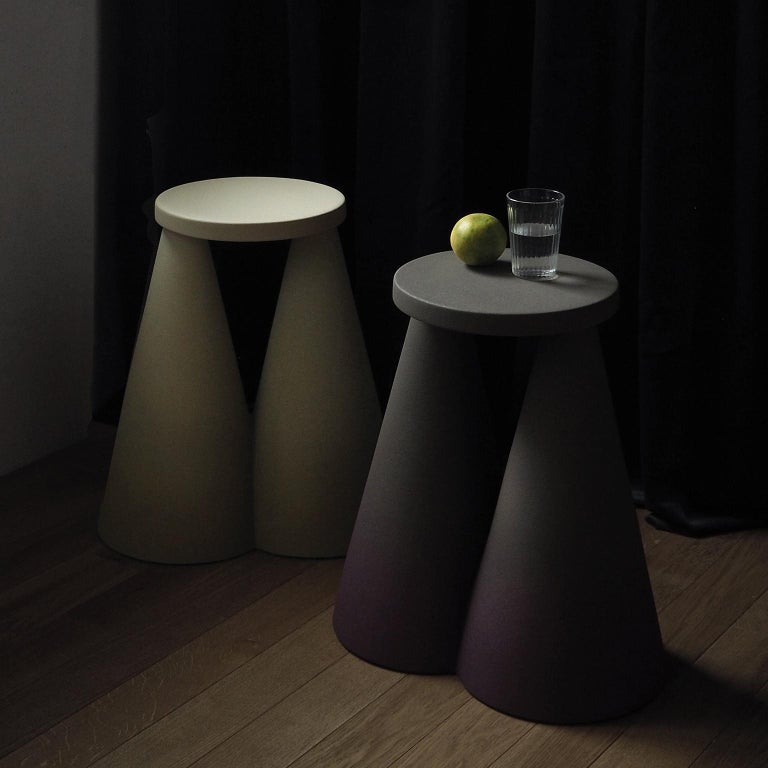 Isola/ Ceramic Conic Side Table/ Purple, Designed by Cara/Davide for Portego For Sale 2
