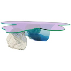 Isola Coffee Table with Natural Stone by Brajak Vitberg