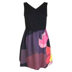Isola Marras Black Floral Evening A line Dress