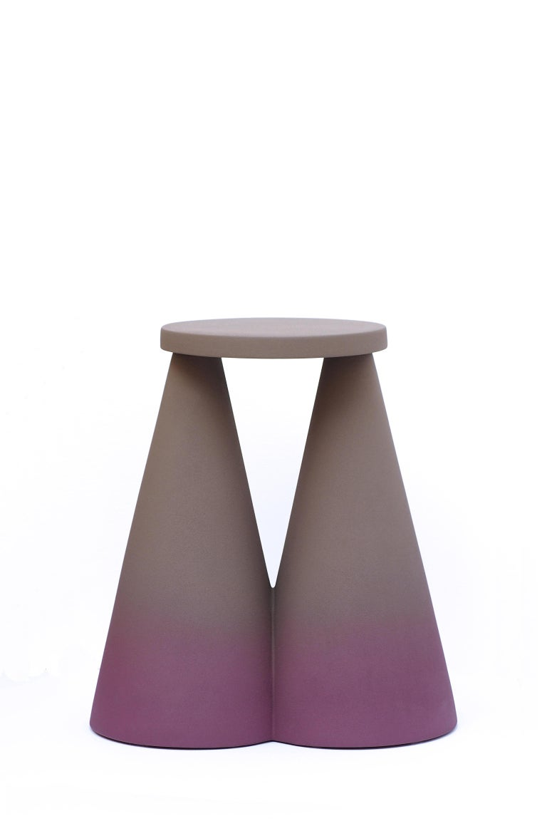 Ceramic Isola Side Table by Cara Davide For Sale
