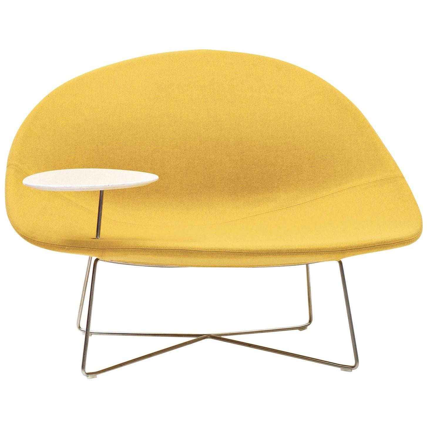 Isola Yellow Chair with Table by Claesson Koivisto Rune