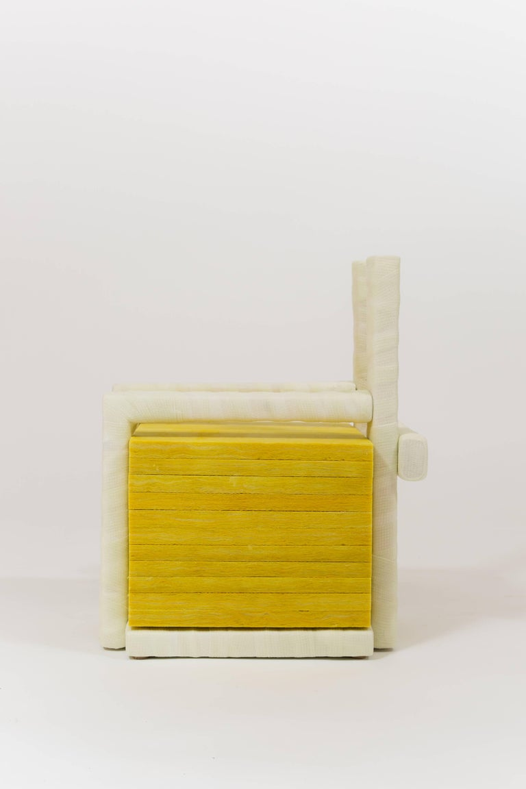 Post-Modern Isolated Stack, Modern Sculpture in Medical Cast Tape with Fiberglass Insulation For Sale