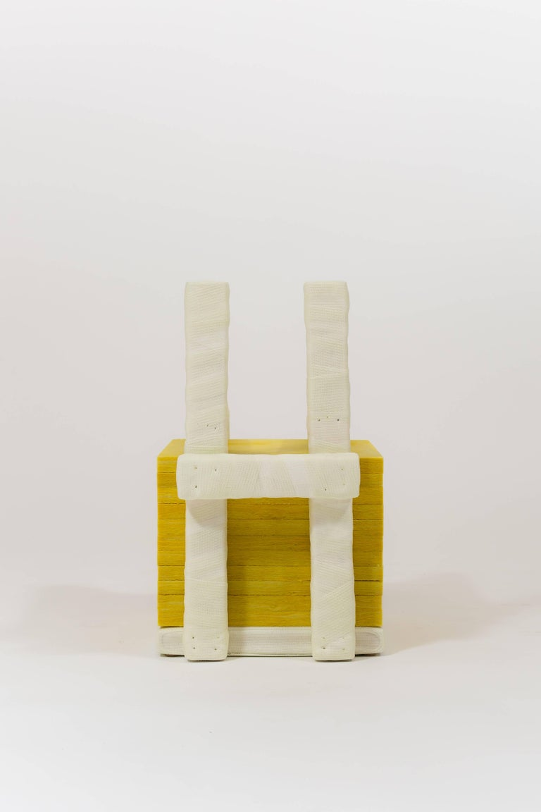 American Isolated Stack, Modern Sculpture in Medical Cast Tape with Fiberglass Insulation For Sale