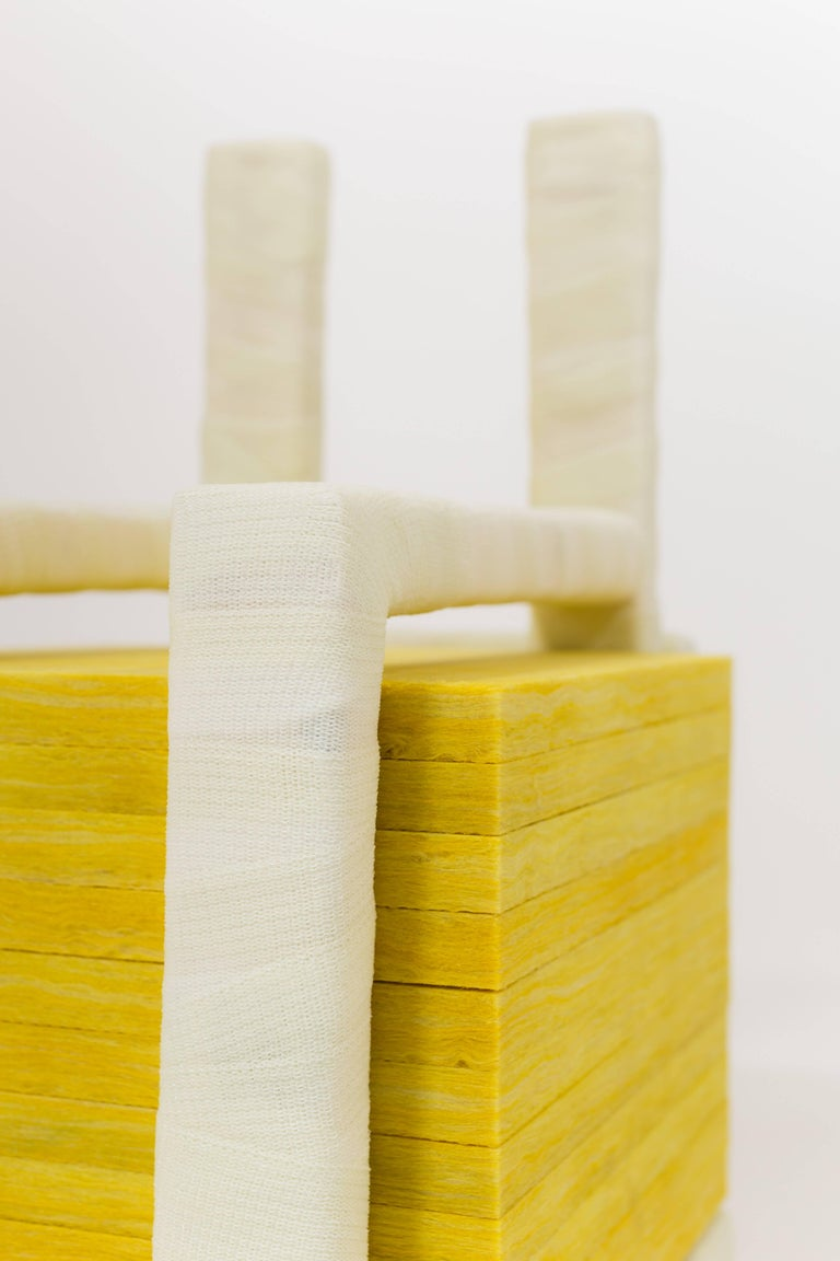 Contemporary Isolated Stack, Modern Sculpture in Medical Cast Tape with Fiberglass Insulation For Sale
