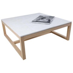 Concrete and Timber Isometric Coffee Table