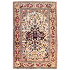 Ispahan Rug with Design Over Medallion