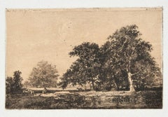 Landscape - Original Etching by Israel Henriet - Late-17th Century