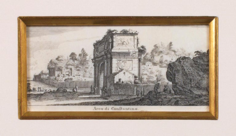 'Arch of Constantine' original engraving by Israel Silvestre For Sale 1