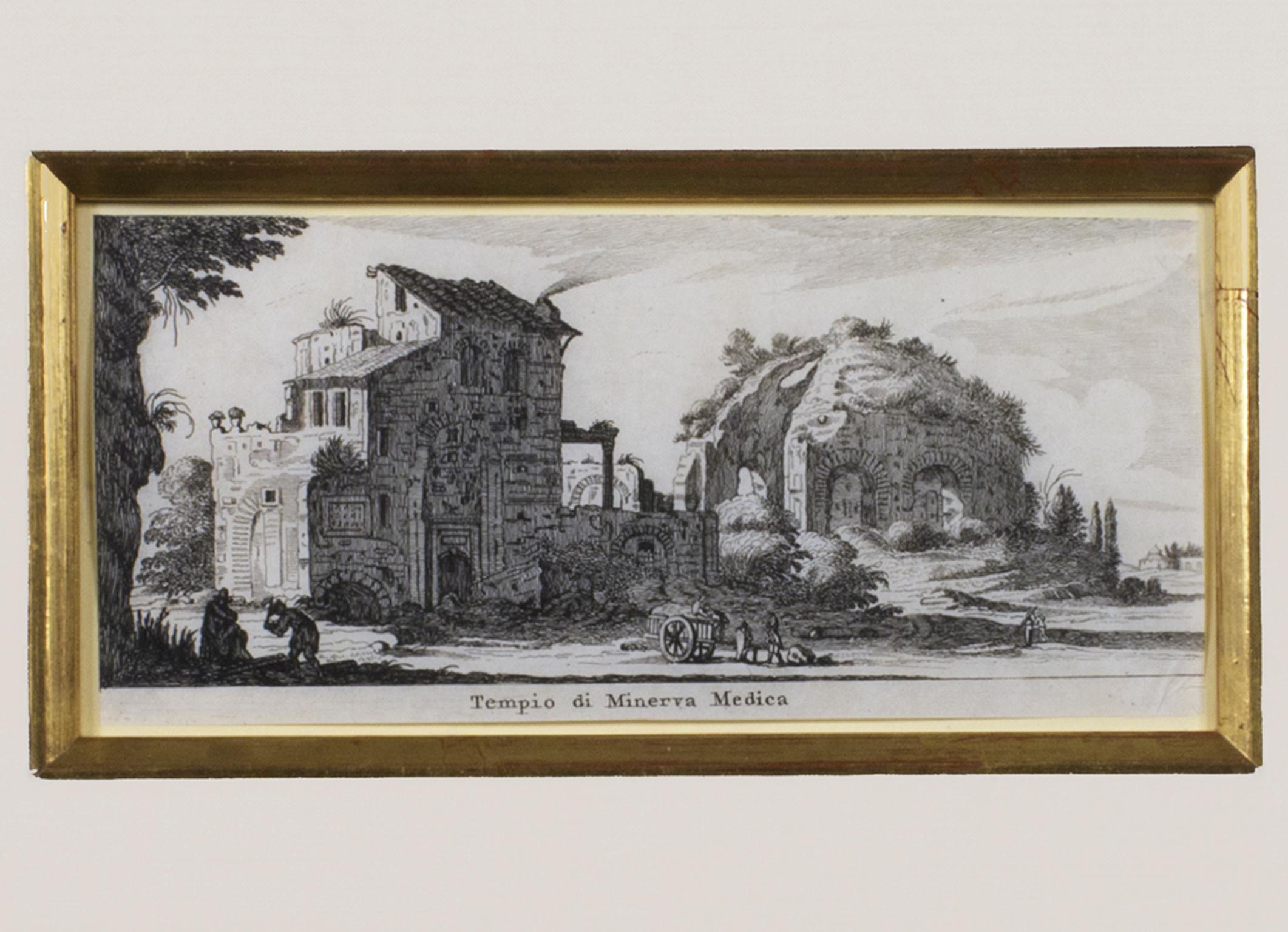 """""""Tiempo di Menerva Medica,"""" Original Roman Ruins Engraving by Israel Silvestre"""