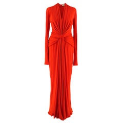 Issa Red Knotted Deep V-Neck Gown SIZE 8