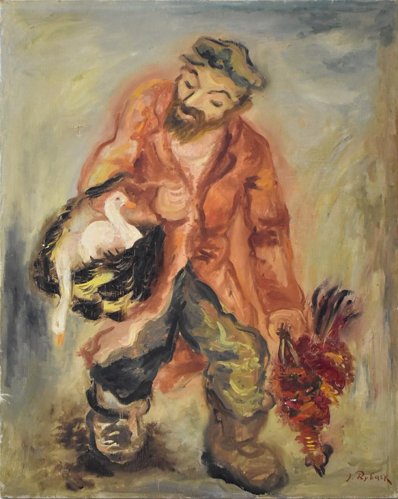 Poultry Seller - Oil Painting, Russian, Jewish, School of Paris