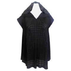 Issey Miyake 1990s Pleats Please Ornamental Collar Blouse