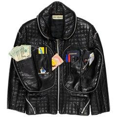 Issey Miyake AW1991 Leather Cargo Jacket