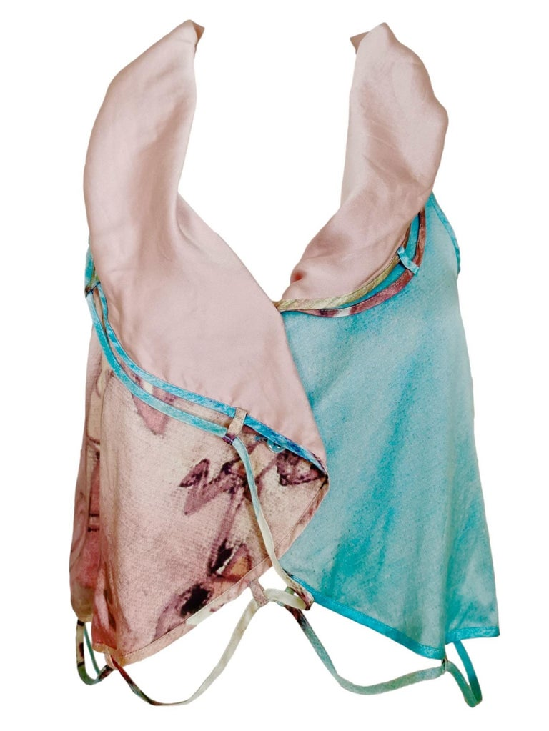 Issey Miyake Aya Takano Limited Edition 2004 Silkscreen Printed Circular Vest For Sale 6